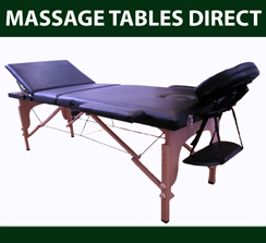 40mm Foam Portable Timber Massage Table with Adjustable Height a - Click Image to Close